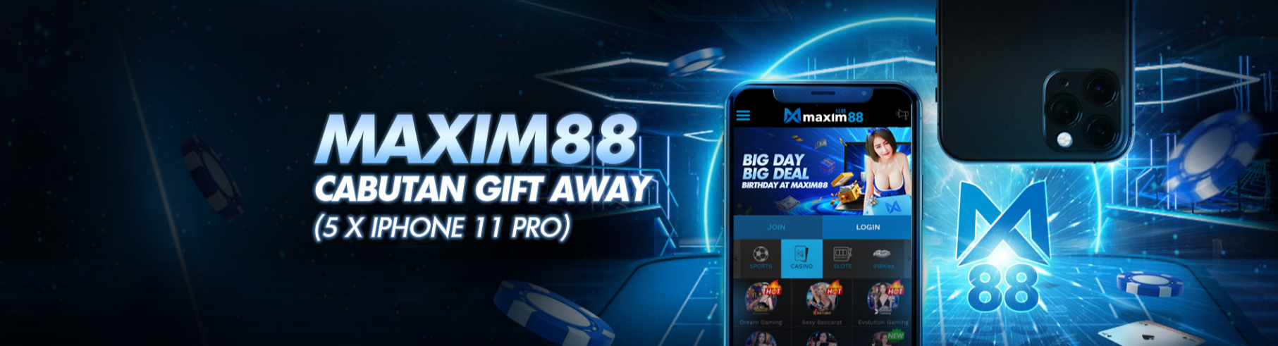 FREE IPHONE 11 FOR MAXIM88